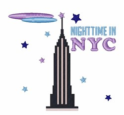 Nightime In NYC embroidery design