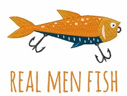 Real Men Fish embroidery design
