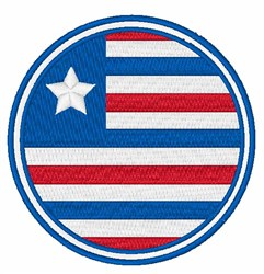 USA Flag embroidery design