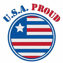 USA Proud embroidery design