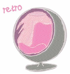 Retro Chair embroidery design