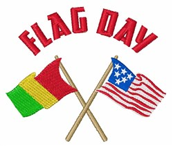 Flag Day embroidery design