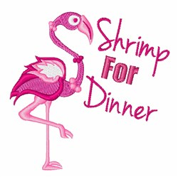Shrimp For Dinner embroidery design