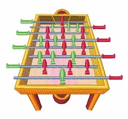 Foosball Table embroidery design