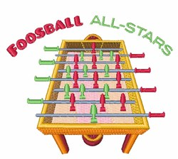 Foosball All-Stars embroidery design