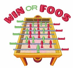 Win Or Foos embroidery design
