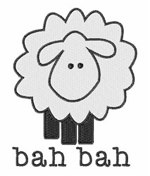 Bah Bah embroidery design