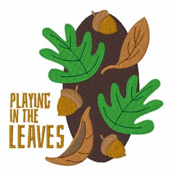 Playing In Leaves embroidery design