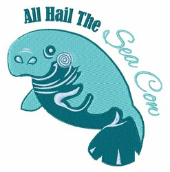 Sea Cow embroidery design