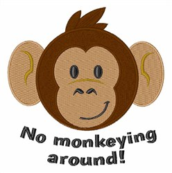 No Monkeying Around embroidery design