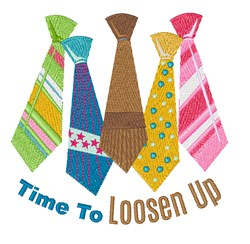 Loosen Up embroidery design