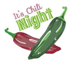 Chili Night embroidery design