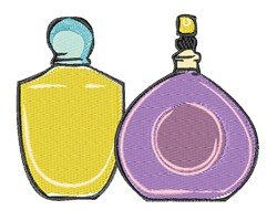Perfume Bottles embroidery design