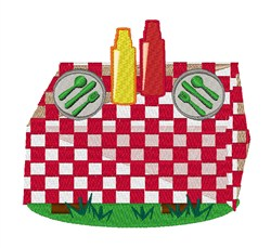 Picnic Table embroidery design