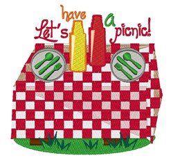 Lets Have a Picnic embroidery design