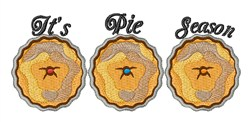Pie Season embroidery design