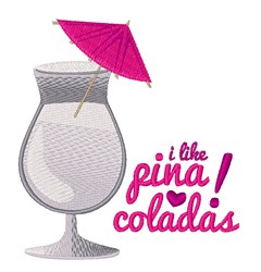 Pina Coladas embroidery design