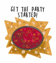 Party Started embroidery design