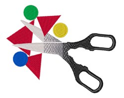 Scissors Shapes embroidery design