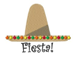 Fiesta Hat embroidery design