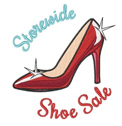Storewide Shoe Sale embroidery design