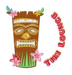 Tiki Lounge embroidery design