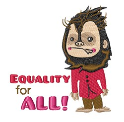 Equality for All embroidery design