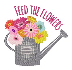 Feed the Flowers embroidery design