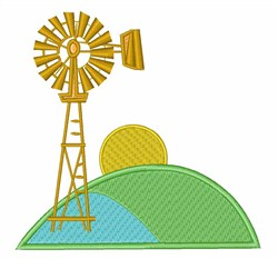 Wind Mill embroidery design