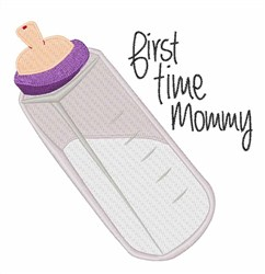 First Mommy embroidery design