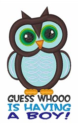 Whooo Boy embroidery design