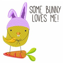 Some Bunny Loves Me! embroidery design