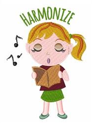Harmonize Girl embroidery design