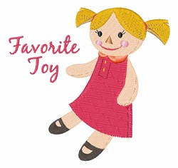 Favorite Toy embroidery design