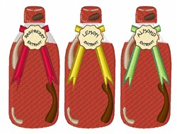 Baking Extracts embroidery design