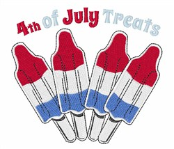4th of July Treats embroidery design