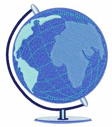 Geography Globe embroidery design