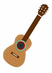 Mexico Guitar embroidery design