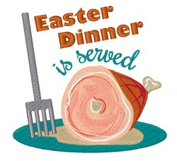 Easter Dinner embroidery design