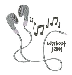 Workout Jam embroidery design