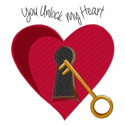 You Unlock My Heart embroidery design