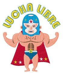 Lucha Libre embroidery design