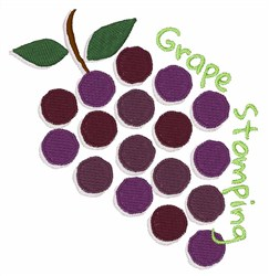 Grape Stomping embroidery design