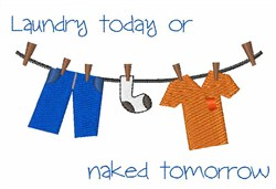 Laundry Today embroidery design