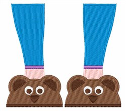 Bear Slippers embroidery design