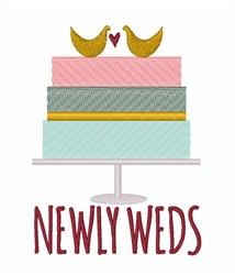 Newlyweds embroidery design