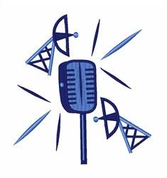 Radio Broadcast embroidery design