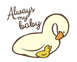 Always My Baby embroidery design