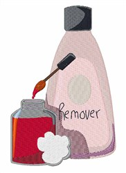 Nail Polish Remover embroidery design