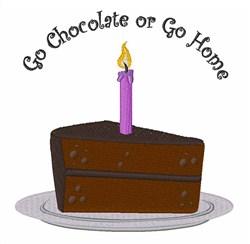 Go Chocolate embroidery design